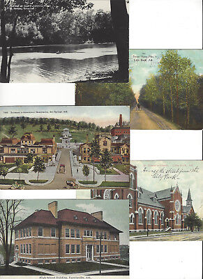 Lot of 50 Older Arkansas Vintage Postcards Little Rock Hot Spring National Park