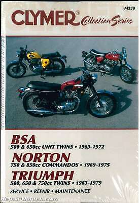 Clymer Vintage British Motorcycle – BSA, Norton, Triumph Repair Manual : M330