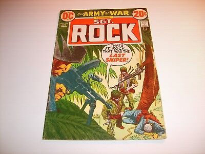 DC Our Army At War  #256   VG/FN  1973