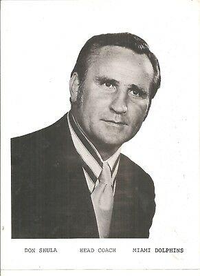 """8 1/2 x 11"""" team issued photo Don Shula, Miami Dolphins"""