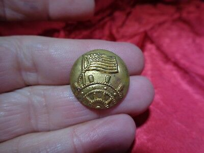Old Civil War Uniform Metal Button #8