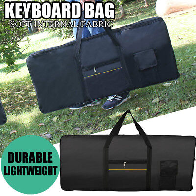 Portable 61Key Keyboard Electric Piano Padded Case Bag Advanced Fabric Black
