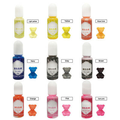 AM_ 10g 10g Epoxy UV Resin Dye Colorant Resin Pigment Mix Color Craft Charm Hand