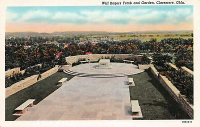 C11-7182,  Will Rogers Tomb And Garden, Claremore, Okla.,