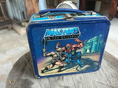 1983 Vintage MASTERS OF THE UNIVERSE He-Man Metal Lunchbox and Thermos Lunch Box