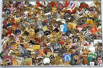 2 Lbs Lapel Hat Tac Brooches Pins Vintage Mod Jewelry Mix Lot 2 Pounds #JE82