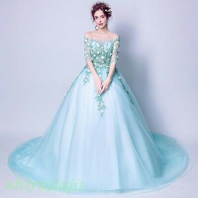 Dreamlike Princess Fairy Dress Flowers Strapless Ball Gown Costume Evening Gown 121 93 Picclick