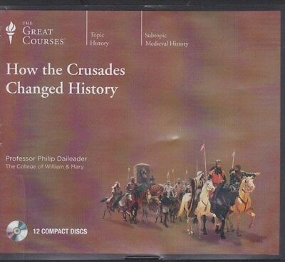 HOW THE CRUSADES CHANGED HISTORY by THE GREAT COURSES CD's ~ 12 CD'S 24 Lectures