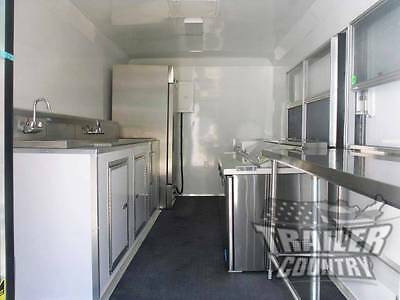 New 8.5 X 16 16' Enclosed Concession Food Vending Bbq Mobile Kitchen Trailer