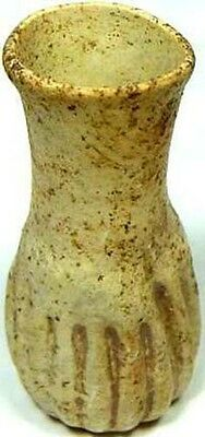 Ancient Roman Hellenic Syria Glass Ribbed Oil Unguent Perfume Bottle 100AD