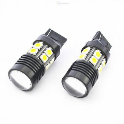 2pcs T20 7440 6000K White 25W High Power 12-SMD LED Light Backup Reverse Light