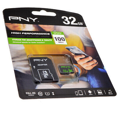 PNY Micro SD Class 10 Card for Tablet/Mobile Phone/Android Device 32GB