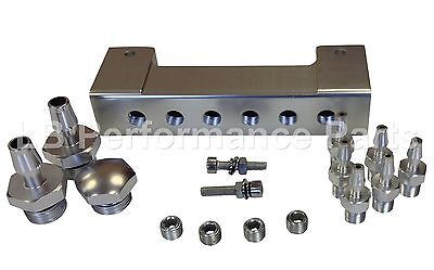 Stealth Vacuum Manifold- SILVER For Boost Gauge FPR Dump Valve EBC Controller