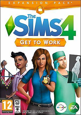 The Sims 4 Get To Work Windows PC / Mac Game UK PAL BRAND NEW Expansion Pack