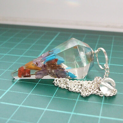 *Auction Orgonite Point Dowsing Pendulum Crystal Dowser Divination