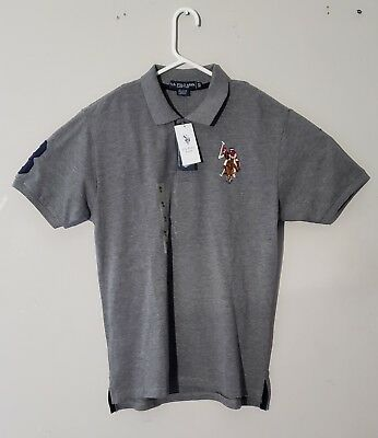 Us Polo Assn. Boys Polo Shirt Gray size XL 18