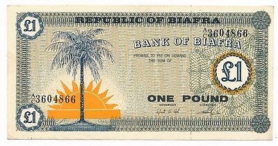 Biafra Pound  P. 2 ND  (1967) gEF Note