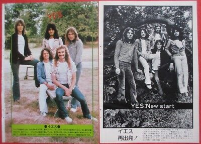 YES Patrick Moraz JON ANDERSON CHRIS SQUIRE 1974 CLIPPING JAPAN U1 V16 2PAGE