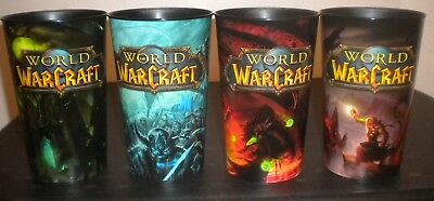 New AmPm Blizzard Limited Edtion Set of (4) World of Warcraft Plastic 32oz Cups