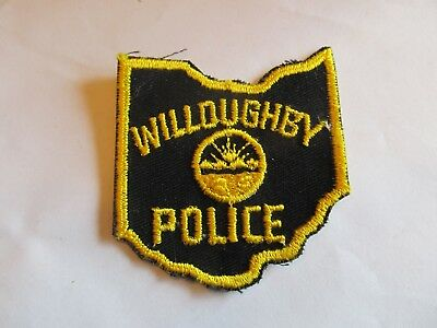 Ohio Willoughby Police Patch Old Cheese Cloth
