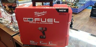 "Milwaukee 2860-22 M18 FUEL 1/2"" Pin Impact Wrench + (2) 5.0AH (1) CHARGER & BAG"