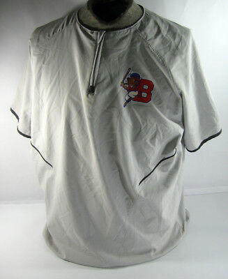 2017 Buffalo Bisons  Game Used Gray Batting Practice Baseball Jersey DS18277