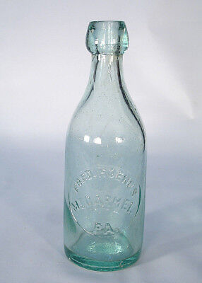 Mt Carmel Pa Hoenes Northumberland County Blob Top Soda Or Beer Bottle