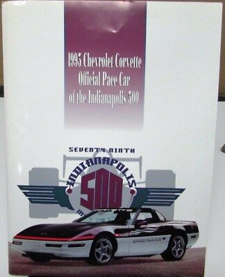 1995 Chevrolet Corvette Indy 500 Official Pace Car Press Kit History of Chevy