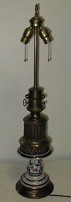 VINTAGE GAGNEAU 115 R. LAFAYETTE FRENCH Hand PAINTED TABLE LAMP