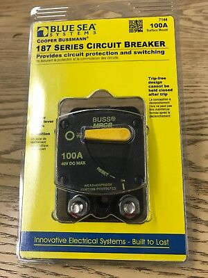 Blue Sea Systems 7144 Circuit Breaker 187 Surf 100 A NEW!