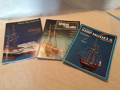 VINTAGE Historic Ship Models Ships in Scale Model Hobby Books Lot Expo 1984