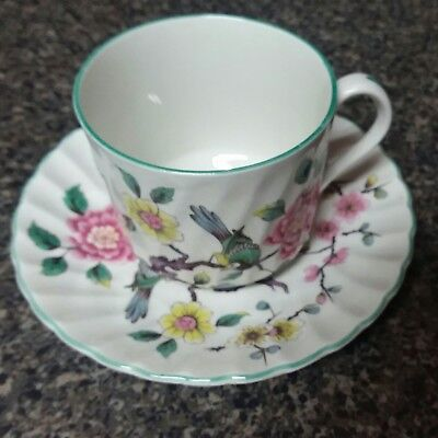 Old Foley James Kent England China Tea Cup & Saucer Set in Chinese Rose Pattern
