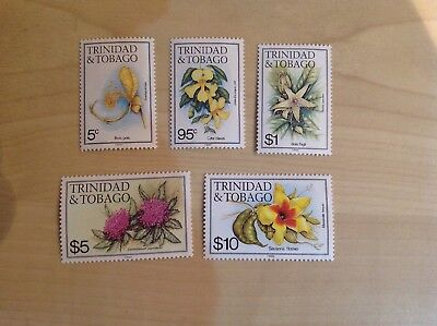 Trinidad And Tobago Stamps Flowers Imprint 1985