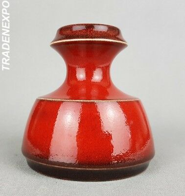SMALL Vintage '60-'70s STEULER KERAMIK Vase Red West German Pottery Fat Lava Era