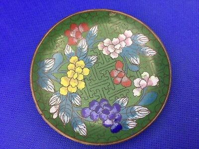 Antique, vintage small miniature enamel Chinese / Japanese pin plate dish.