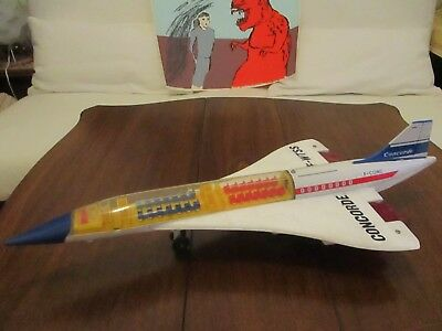"""Large Battery Operated Super-Sonic CONCORDE """"AIR FRANCE"""" by ALPS/Japan! Rare!"""