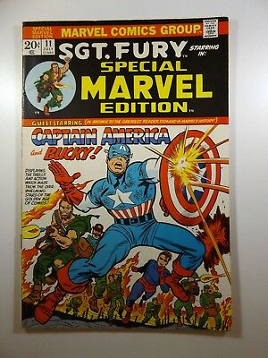 Special Marvel Edition #11 Reprint Classic Sgt Fury #13 Beautiful VF- Condition!