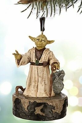 Disney Star Wars Yoda Talking Sketchbook Resin Ornament New
