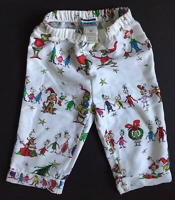 Pottery Barn Kids Dr Seuss The Grinch Flannel Pajama Pants Size 2T New  Christmas 1f8a0ec6b