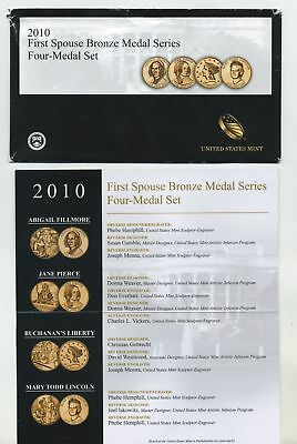 2010 First Spouse Bronze Medal Series - Four Medal Set 4th yr Issue By U.S Mint