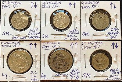 Lot of 6x Quebec Canada Transit Tokens ***Errors & Varieties*** St. Maurice