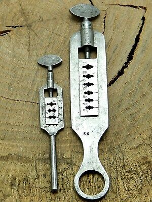Vintage Watchmakers & Jewelers Lot of 2 Screw Die Plates Watch and Jewelry Tool