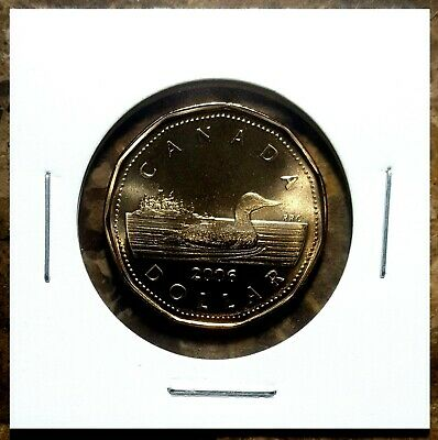 Canada 2006 Regular Loonie BU UNC From Mint Roll!!