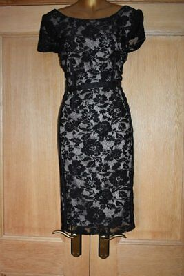 Marks & Spencer Autograph Black Lace Evening Occasion Party Dress Size 14 New