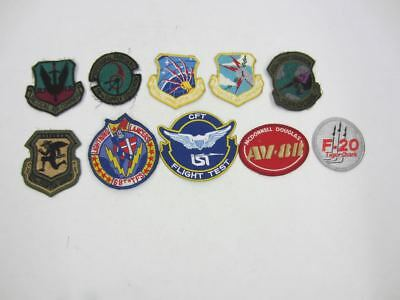 8 Vintage USAF Patch Lot 58th,832nd,103rd,68th,McDonnell AV-8B,F-20 Tigershark