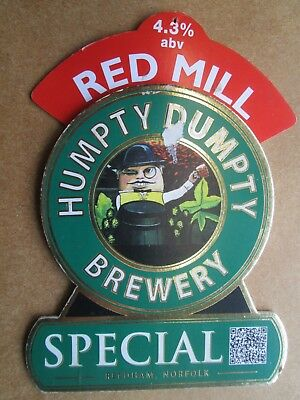 Red Mill Special Humpty Dumpty Brewery Beer Pump Clip