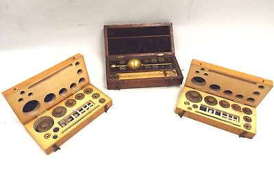 Antique Collection of Various Weight Sets Inclu Sikes HYDROMETER In Boxes - S31