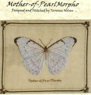 Mother-of-Pearl Morpho (Butterfly) Counted Cross Stitch Kit