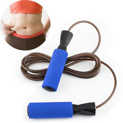 Pro Training Steel Wire Fitness Jump Rope Skipping Exercise Athletics Workout AU