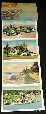 Mackinac Island 1938 Unused Color Postcard Packet Mailer Mackinaw City St Ignace